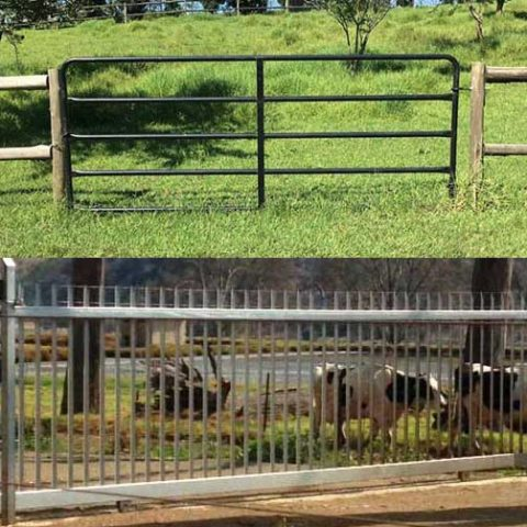 TOP: Farm Tube Gate, BOTTOM: Cantilever Farm Gate